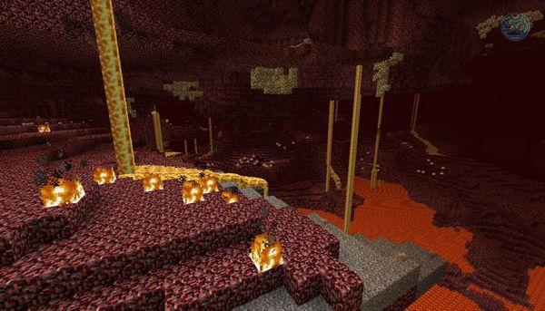 Ад в Minecraft - ландшафт Ада