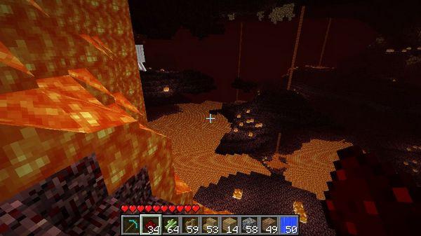 Ад в Minecraft - огромное количество лавы