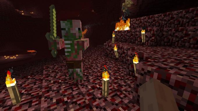 Ад в Minecraft - зомби-свиночеловек