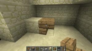 Как сделать стол в Minecraft - стол из перевернутых ступеней