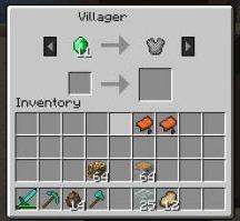 Кольчуга в Minecraft - покупка кольчуги у жителя деревни