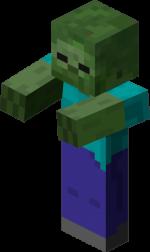 Майнкрафт зомби - модель