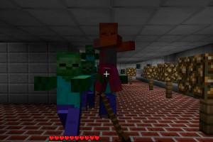 Майнкрафт зомби - толпа