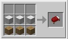 Minecraft кровать - рецепт кровати