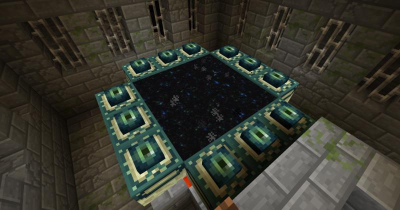 Minecraft портал в Край - активированный портал