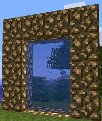 Minecraft сделать портал в Рай - активированный портал