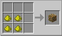 Minecraft сделать портал в Рай - рецепт светящегося камня