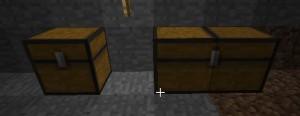 Minecraft сундук - обычный и двойной сундуки