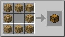 Minecraft сундук - рецепт сундука Майнкрафт
