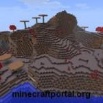 Грибной остров в Minecraft
