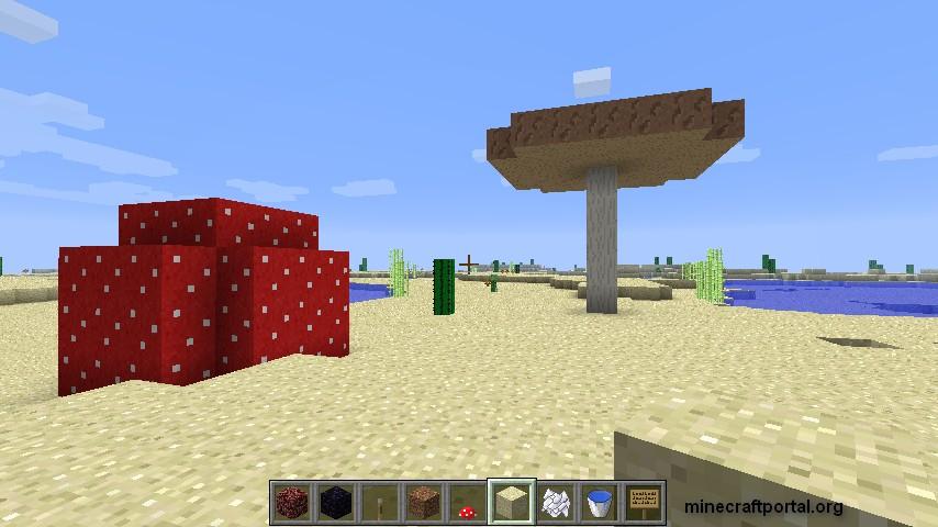 Как сделать в майнкрафте большой гриб