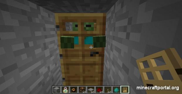 дверь с зомбарем
