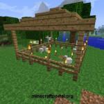 Куриная ферма в Minecraft