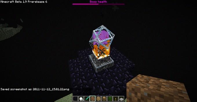 Minecraft край - кристалл Края