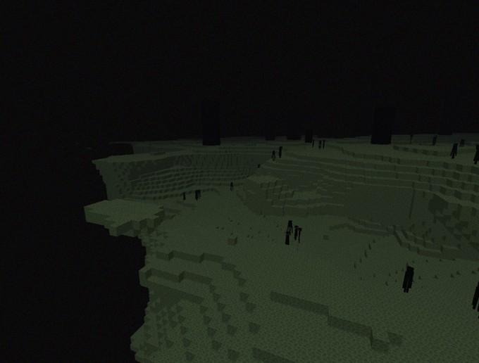 Minecraft край - остров Края