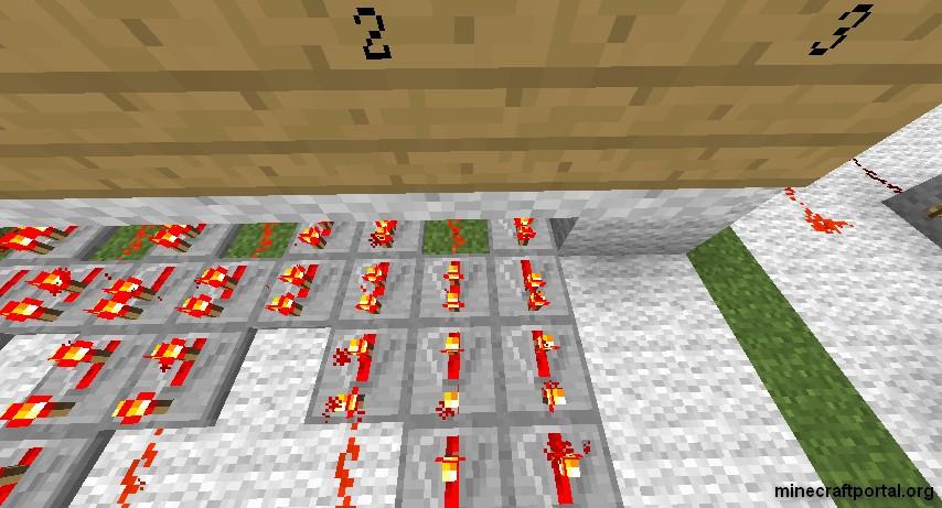Кодовый замок в Minecraft