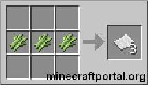 Сахарный тростник в Minecraft - крафт бумаги