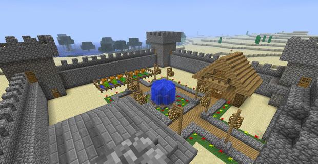 Крепость Майнкрафт карта - скриншот