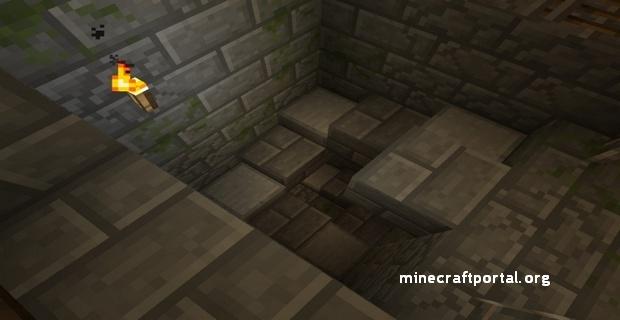 Minecraft крепость - винтовая лестница в крепости