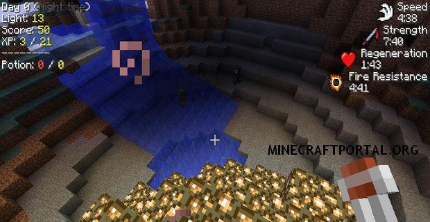 """Скачать мод """"Показатели статуса"""" для Minecraft 1.5.0 - StatusEffectHUD"""