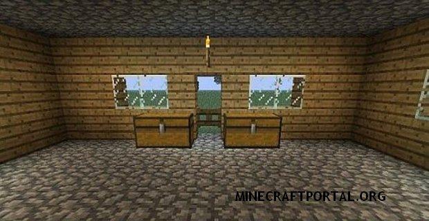 """Скачать мод """"Переносной дом"""" для Minecraft 1.5.0 - Instant House Mod"""