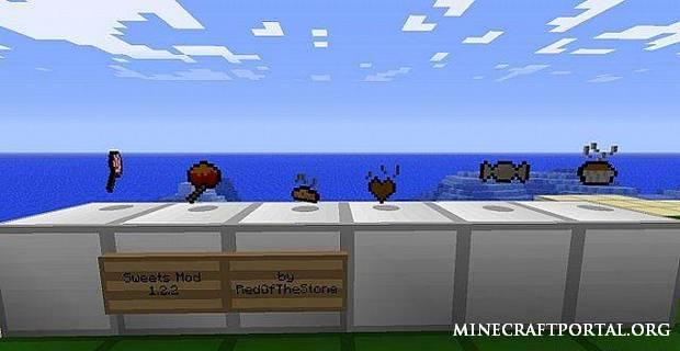 Мод конфет для Minecraft 1.4.7 Sweets Mod