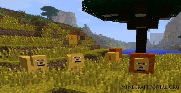 мод Король Лев для Minecraft 1.4.7
