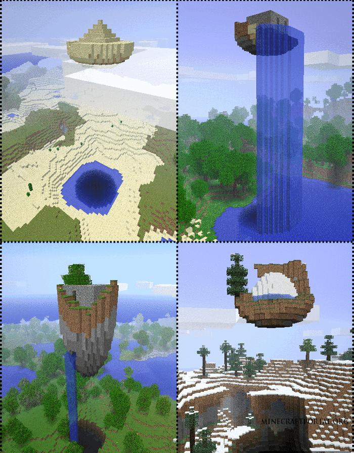 """Скачать мод """"Парящие руины"""" для Minecraft 1.5.1 - Floating Ruins"""