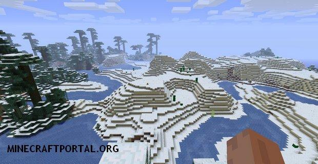 """Скачать мод """"Снежные биомы"""" для Minecraft 1.5.1 - AllSnow Mod"""