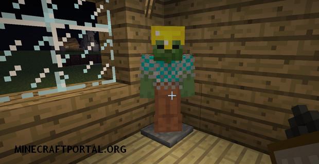 "Скачать мод ""Стэнд, манекен"" для Minecraft 1.5.0 - Armor Stand"