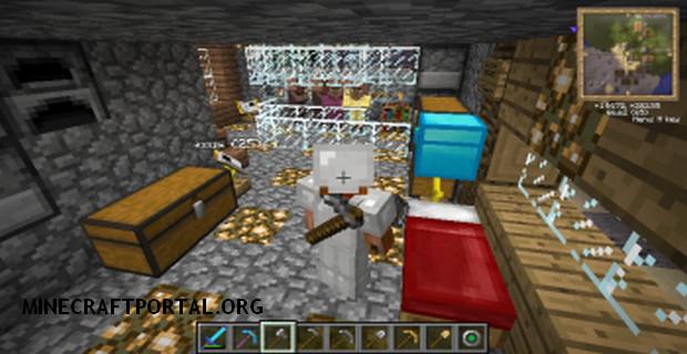 """Скачать мод """"Инструменты за спиной"""" для Minecraft 1.5.0 - Back Tools (6)"""