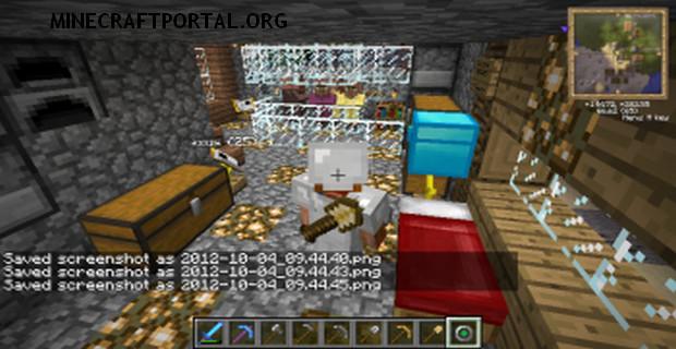 """Скачать мод """"Инструменты за спиной"""" для Minecraft 1.5.0 - Back Tools (5)"""