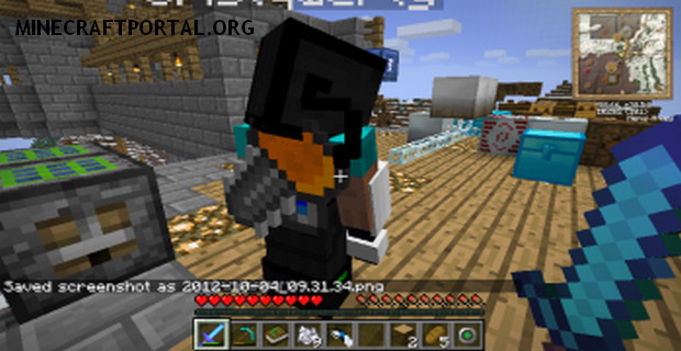 """Скачать мод """"Инструменты за спиной"""" для Minecraft 1.5.0 - Back Tools (4)"""