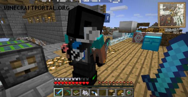 """Скачать мод """"Инструменты за спиной"""" для Minecraft 1.5.0 - Back Tools (3)"""