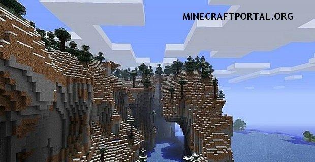 """Скачать мод """"Экстримальные скалы"""" для Minecraft 1.5.1 - Extreme Hills Mod"""