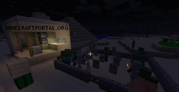"""Скачать мод """"Надгробия"""" для Minecraft 1.5.1 - Gravestone Mod"""
