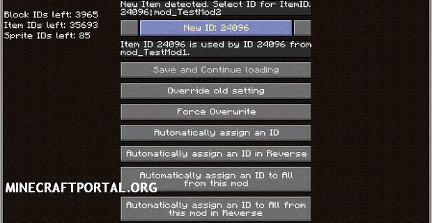 """Скачать мод """"Идентификаторы предметов"""" для Minecraft 1.5.0 - ID Resolver"""