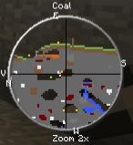 """Скачать мод """"Детектор ресурсов"""" для Minecraft 1.5.0 - Ellian's MaterialDetector"""