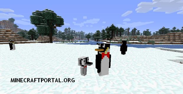 """Скачать мод """"Пингвины"""" для Minecraft 1.5.2 - Rancraft Penguins"""