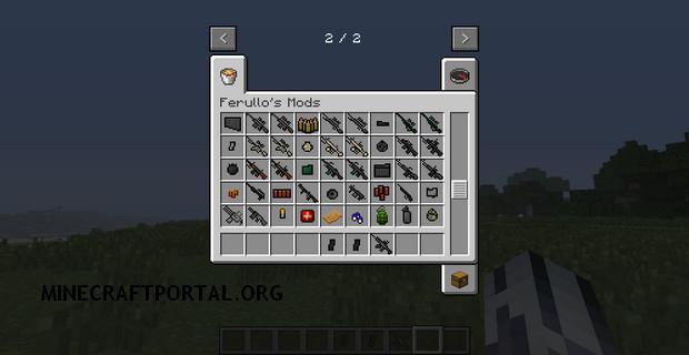 Скачать мод на огнестрельное оружие для Minecraft 1.4.7 - Ferullo's Guns Mod