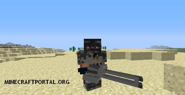 Мод на огнестрельное оружие для minecraft 1