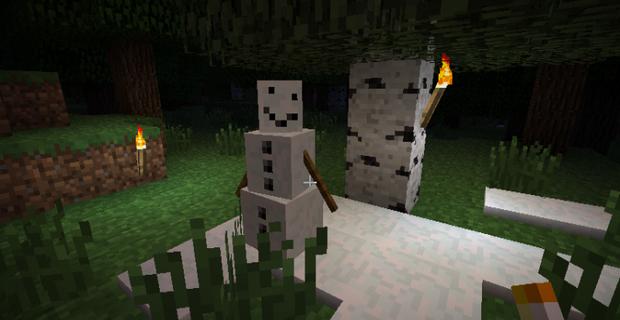 """Скачать мод """"Pumpkin-less Snow Golem"""" для Minecraft 1.5.2 - Мего снеговик"""