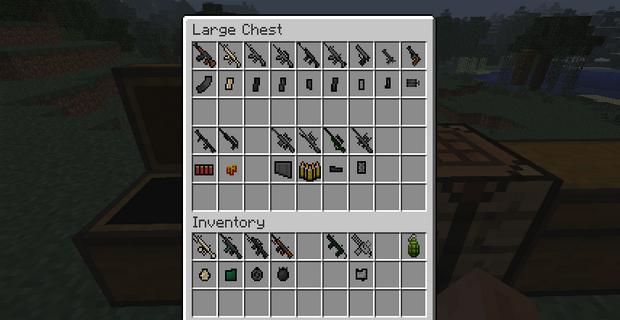 Скачать мод на огнестрельное оружие для Minecraft 1.5/1.4.7 - Ferullo's Guns Mod