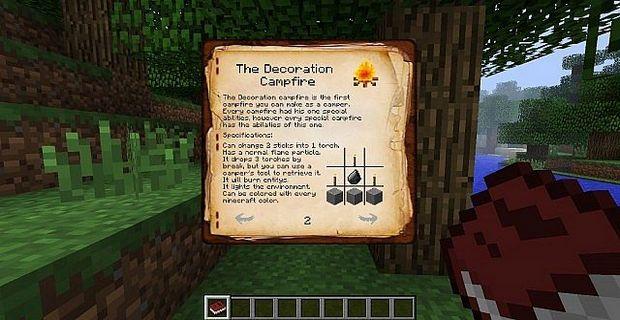 """Скачать мод """"The Camping Mod"""" для Minecraft 1.5.2 - Костер, Палатка"""