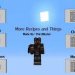 Скачать мод «More Recipes and Things!» для Minecraft 1.5.2 — Больше рецептов на предметы