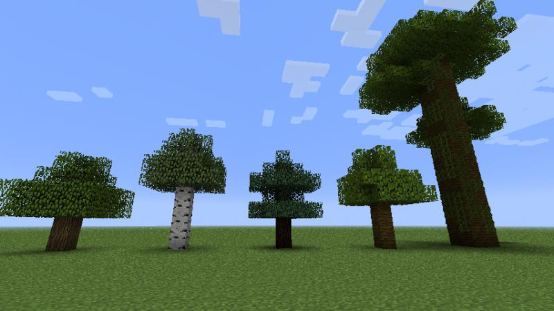 Как сделать дерево в майнкрафт