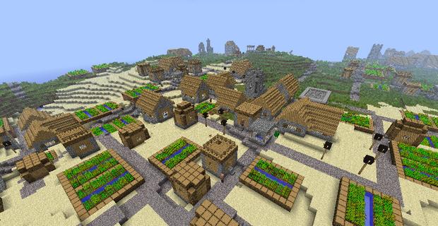 Деревня в майнкрафт