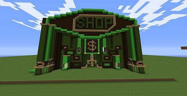 Строим магазин в майнкрафт