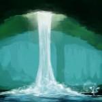 Как сделать водопад в майнкрафт