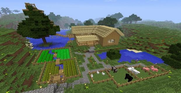 Как посадить огород в minecraft